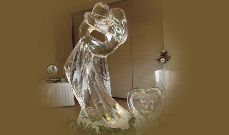 Esculturas de hielo fabricadas para eventos. Hielo Blasco.