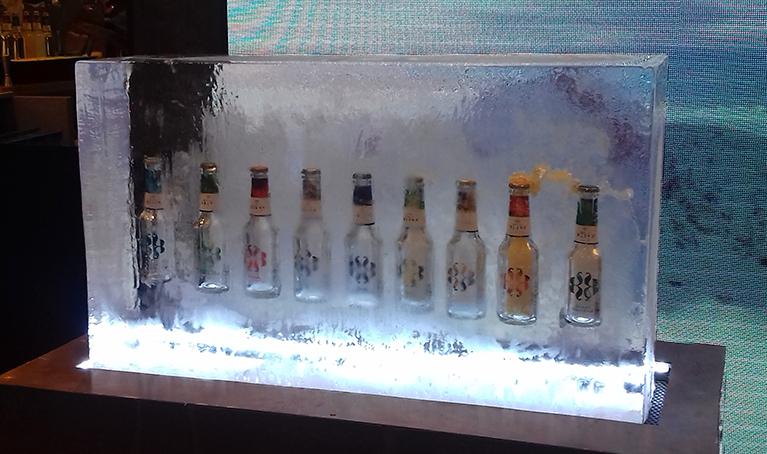 presentacion producto en hielo